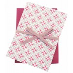 Geometric Coral tea towels pair